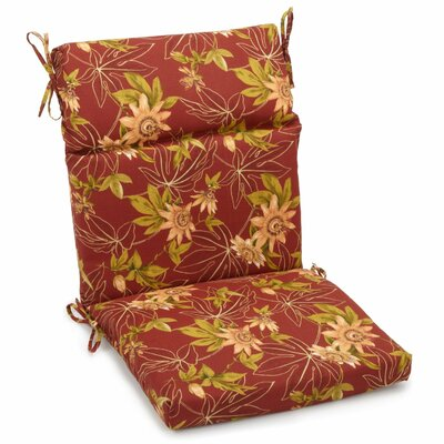 Blazing Needles Passion Outdoor Adirondack Chair Cushion Size: 5