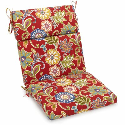 Alenia Outdoor Adirondack Chair Cushion Size: 5 H x 19 W x 42 D, Fabric: Rolling Mead Veranda