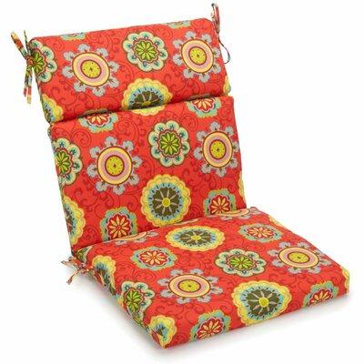 Outdoor Adirondack Chair Cushion Fabric: Farmington Terrace Grenadine, Size: 5