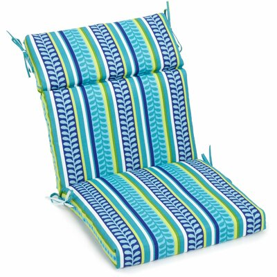 Alenia Outdoor Adirondack Chair Cushion Size: 3.5 H x 22 W x 45 D, Fabric: Pike Azure