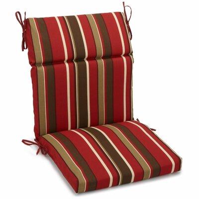 Alenia Outdoor Adirondack Chair Cushion Size: 5 H x 19 W x 42 D, Fabric: Montserrat Sangria