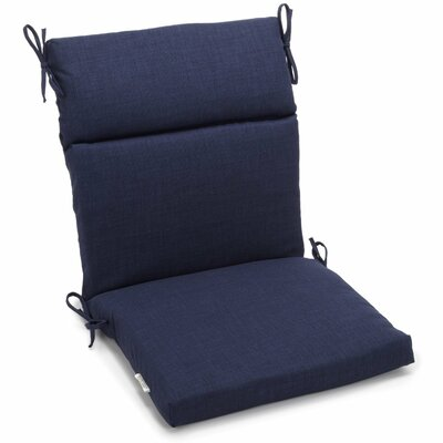 Outdoor 2 Piece Chair Cushion Fabric: Azul