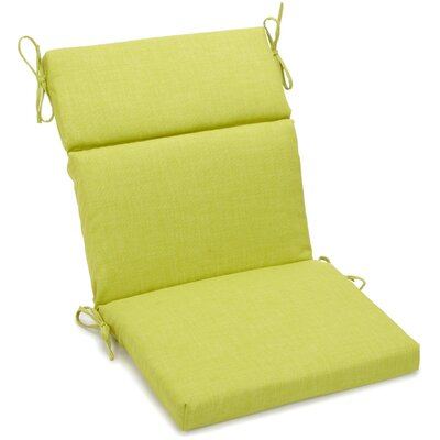 Outdoor Adirondack Chair Cushion Fabric: Lime, Size: 3.5