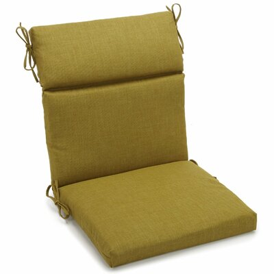 Outdoor Adirondack Chair Cushion Fabric: Avocado, Size: 3.5 H x 19 W x 42 D