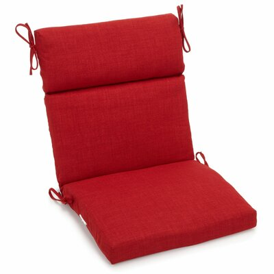Outdoor 2 Piece Chair Cushion Fabric: Papprika