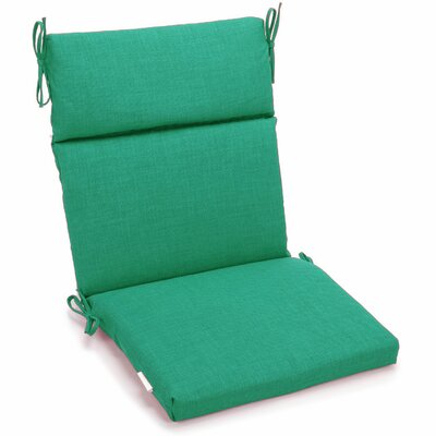 Outdoor 2 Piece Chair Cushion Fabric: Emerald