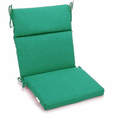 Outdoor Adirondack Chair Cushion Fabric: Emerald, Size: 3.5 H x 19 W x 42 D