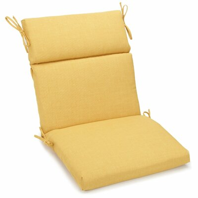 Outdoor 2 Piece Chair Cushion Fabric: Lemon