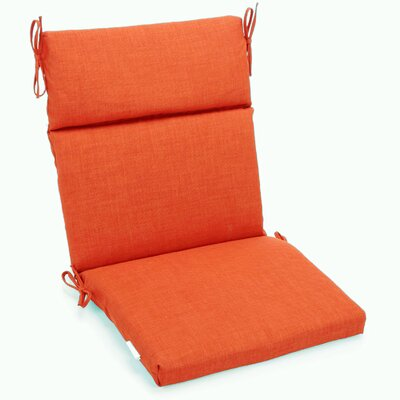 Outdoor Adirondack Chair Cushion Fabric: Tangerine Dream, Size: 3.5 H x 22 W x 45 D