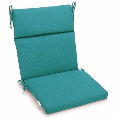 Outdoor 2 Piece Chair Cushion Fabric: Aqua Blue