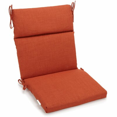 Outdoor 2 Piece Chair Cushion Fabric: Cinnamon
