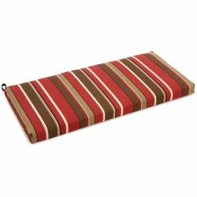 Outdoor Bench Cushion Fabric: Montserrat Sangria