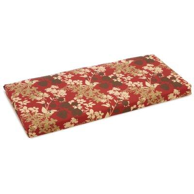 Outdoor Bench Cushion Fabric: Montfleuri Sangria