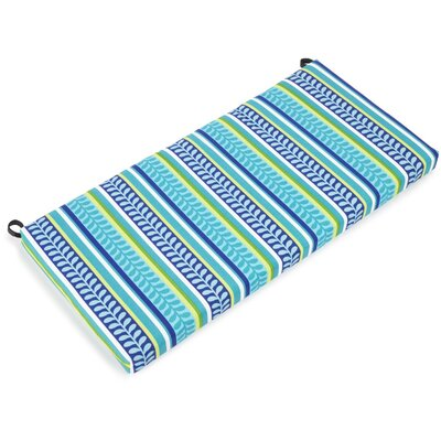 Outdoor Bench Cushion Fabric: Pike Azure