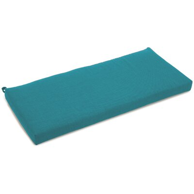 Outdoor Bench Cushion Size: 3.5 H x 51 W x 19 D, Fabric: Aqua Blue