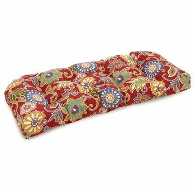 Alenia Outdoor Loveseat Cushion Fabric: Alenia Pompeii