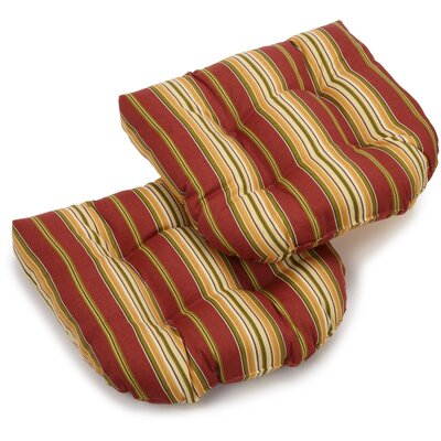 Kingsley Stripe Outdoor Lounge Chair Cushion