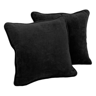 Lehigh Microsuede Throw Pillow Color: Black