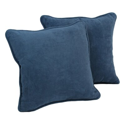 Lehigh Microsuede Throw Pillow Color: Indigo