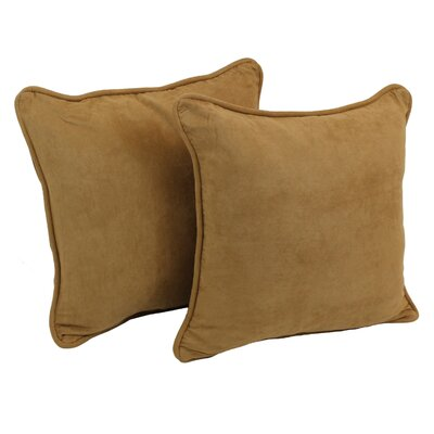 Lehigh Microsuede Throw Pillow Color: Camel