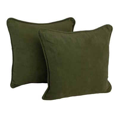 Lehigh Microsuede Throw Pillow Color: Hunter Green