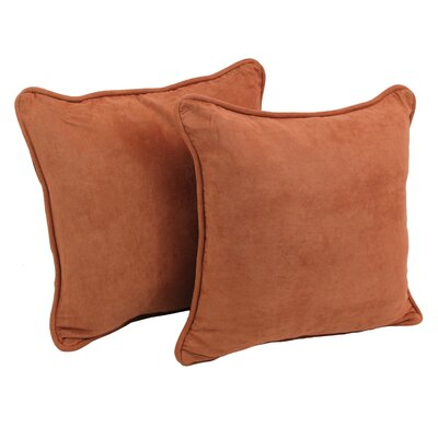 Lehigh Microsuede Throw Pillow Color: Spice
