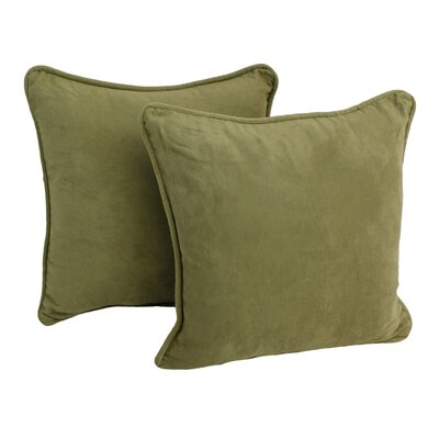 Lehigh Microsuede Throw Pillow Color: Sage
