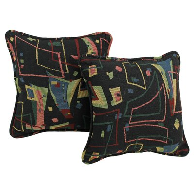 Contemporary Tapestry Throw Pillow Pattern: Spin City