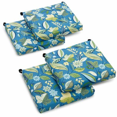 Skyworks Outdoor Lounge Chair Cushion Fabric: Skyworks Caribbean