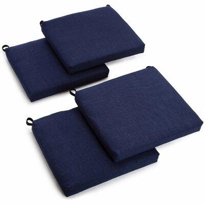 Outdoor Adirondack Chair Cushion Fabric: Azul