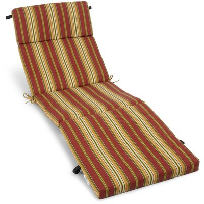 Outdoor Chaise Lounge Cushion Fabric: Kingsley Stripe Ruby