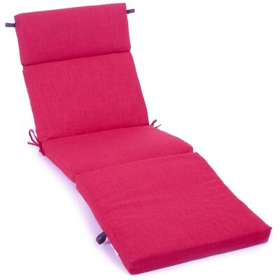Outdoor Chaise Lounge Cushion Fabric: Berry Berry