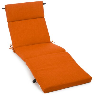 Outdoor Chaise Lounge Cushion Fabric: Tangerine Dream