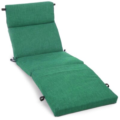 Outdoor Chaise Lounge Cushion Fabric: Emerald