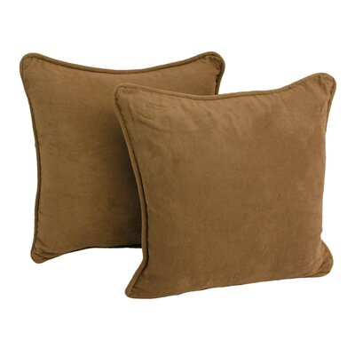 Micro Suede Throw Pillow (Set of Two) Color: Salak Brown