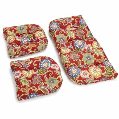 Alenia Outdoor Loveseat Cushion Fabric: Pompeii