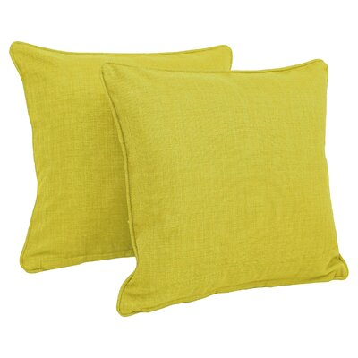 Solid Indoor/Outdoor Throw Pillow Color: Lime