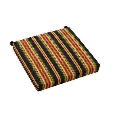 Stripe Outdoor Adirondack Chair Cushion Fabric: Lyndhurst Raven