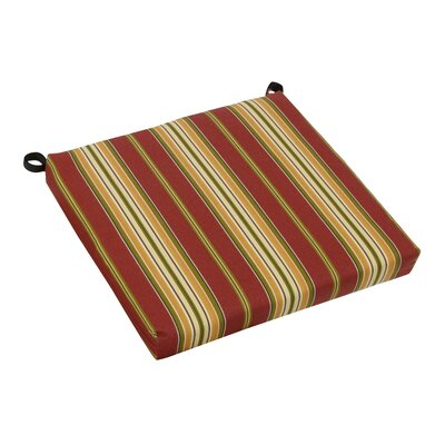 Stripe Outdoor Adirondack Chair Cushion Fabric: Kingsley Stripe Ruby