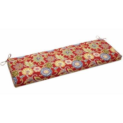 Alenia Outdoor Bench Cushion Fabric: Alenia Pompeii, Size: 3.5 H x 45 W x 19 D