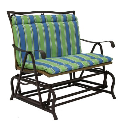 Outdoor Lounge Chair Cushion Fabric: Haliwall Caribbean