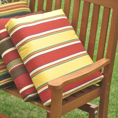 Outdoor Adirondack Chair Cushion Fabric: Haliwell Day Stripe