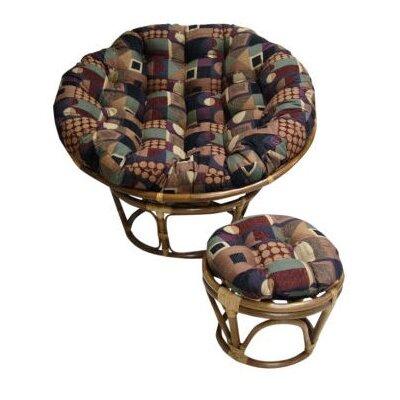 Papasan Lounge Chair Cushion Size: 48 W x 48 D