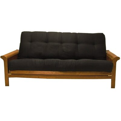 Box Cushion Futon Slipcover Size: 9 and 10, Upholstery: Black