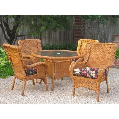Outdoor Wicker Patio Premium U-shape Cushion Color: Haliwall Caribbean