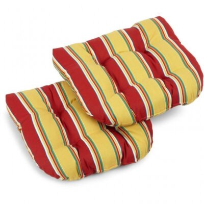 Outdoor Wicker Rocker Cushion Fabric: Skyworks Caribbean