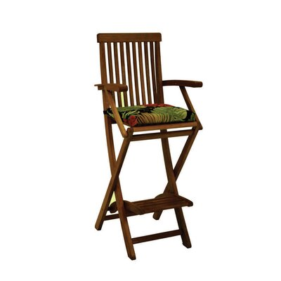 Outdoor Barstool Cushion Fabric: Skyworks Caribbean