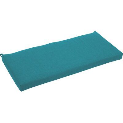 Outdoor Bench Cushion Fabric: Aqua Blue