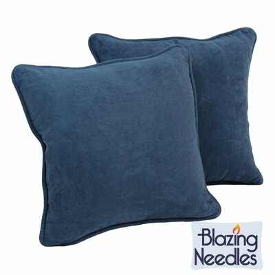 Micro Suede Throw Pillow (Set of Two) Color: Indigo