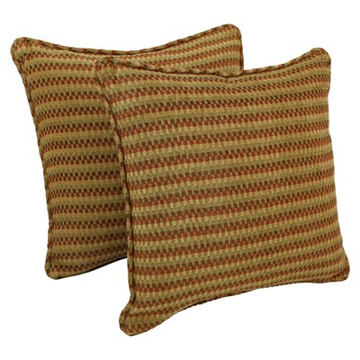 18-inch Corded Autumn Gingham Jacquard Chenille Throw Pillow